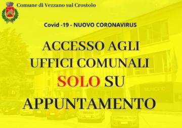 Leggi: «Accesso agli uffici comunali SOLO su…»